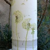 P-Grisard-luminaire-collage-de-soie-lin-dentelles-peint main